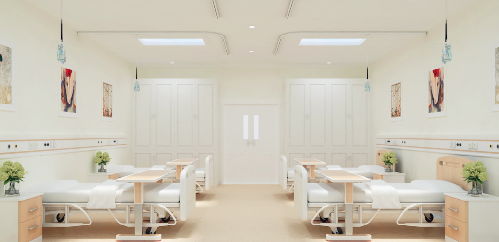 natural light skylights - healthcare